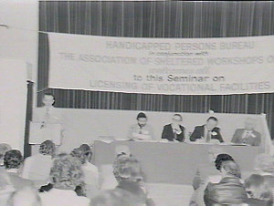 Seminar on handicapped persons at Ormond School