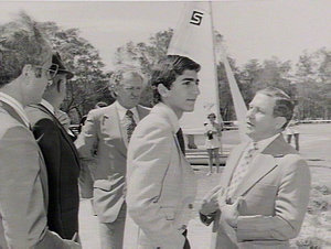 Inspection of Narrabeen National Fitness Camp by his Imperial Highness, the Crown Prince of Iran