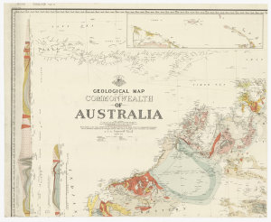 Geological map of the Commonwealth of Australia [cartographic material] / by T.W. Edgeworth David ; drawn and printed at the Department of Lands, Sydney, N.S.W. for Commonwealth Council for Scientific & Industrial Research.