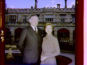 Pictures of Governor & Lady Rowland for use on Christmas card