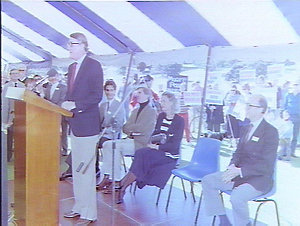 Proclamation to announce the construction of the Centenary Dome in the Park by Premier Wran