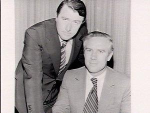 Premier Wran with a public servant