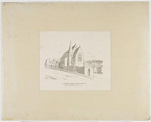 St John's Church, Goulbourne [i.e. Goulburn] St, Rev. F. H. Cox incumbent / A. Bock