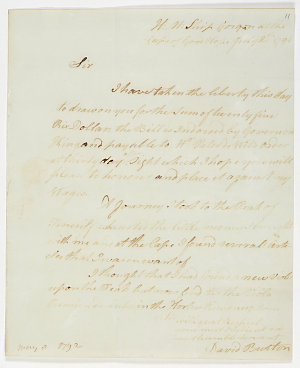 Series 15.05: Letter received by Banks from David Burton, 20 July 1791