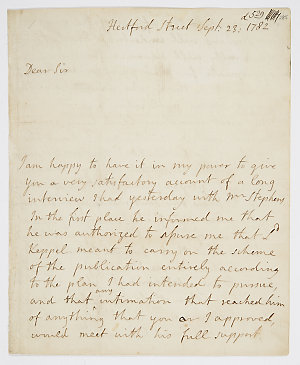 Series 09.07: Letter received by Banks from Lord Sandwich, 23 September 1782