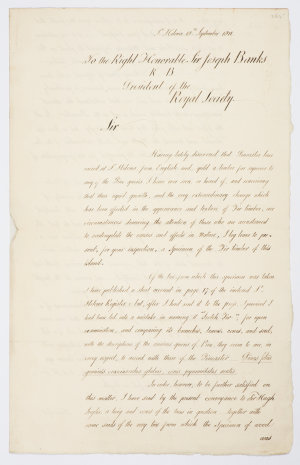 Series 20.08: Letter received by Banks from Alexander Beatson, 18 September 1811