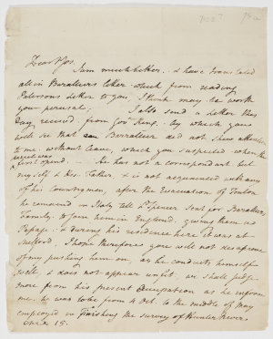 Series 23.25: Letter received by Banks from Charles Francis Greville, April 1802