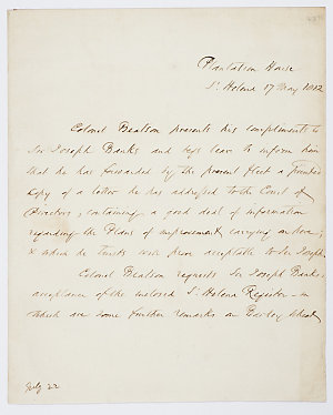 Series 20.09: Letter received by Banks from Alexander Beatson, 17 May 1812