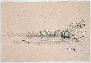 [Album of] Pencil sketches, watercolours, etc. by C. Martens, O.W. Brierly, S.T. Gill, John Rae, C. Rodius and others, ca. 1823-1863