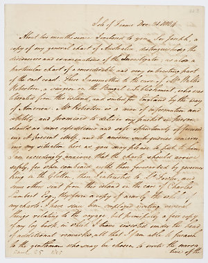 Series 65.32: Letter received by Banks from Matthew Flinders, 31 December 1804