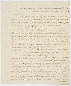 Series 65.38: Letter received by Banks from Matthew Flinders, 20 March 1806