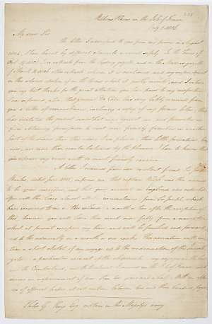 Series 65.39: Letter received by Philip Gidley King from Matthew Flinders, 3 - 4, 22 July 1806