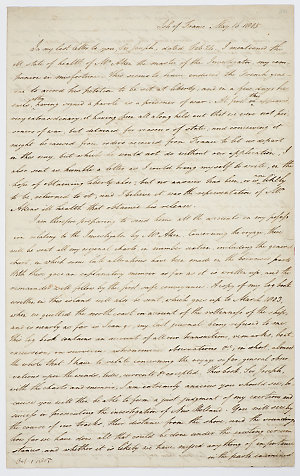 Series 65.34: Letter received by Banks from Matthew Flinders, 16 May 1805