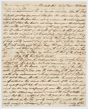 Series 65.33: Letter received by Banks from Matthew Flinders, 24 February 1805