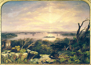 City and Harbour of Sydney New South Wales from the height above Vaucluse, ca. 1855 / [painted by G. E. Peacock]