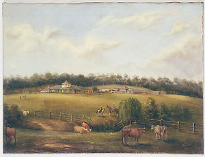 [View of] Bungarrabee [sic, ie. Bungarribee] NSW /  painted by J[oseph] Fowles Sydney 1858