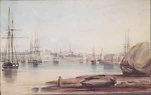Sydney Cove from Dawes Point / watercolour by Frederick Garling