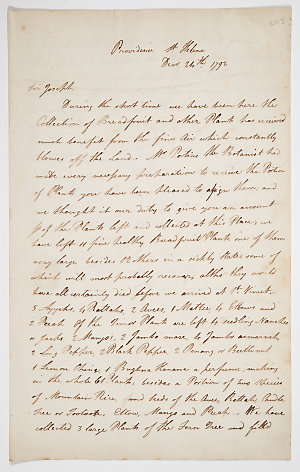 Series 52.11: Letter received by Banks from James Wiles and Christopher Smith, 24 December 1792