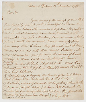 Series 50.21: Letter received by Banks from William Bligh, 16 - 25 December 1792