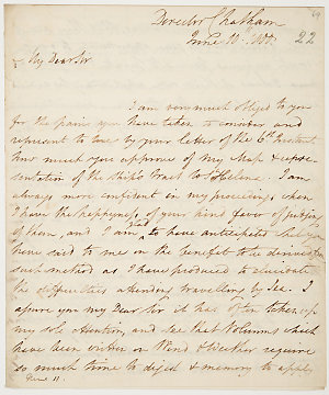 Series 58.21: Letter received by Banks from William Bligh, 10 June 1800