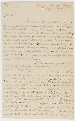 Series 46.22: Letter received by Banks from William Bligh, 24 May 1788
