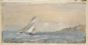 Item 08: [Pilot boat off the] Start, 1872 / watercolour by Oswald W. Brierly