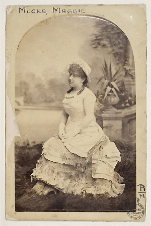 Maggie Moore - fascicle of portraits, ca. 1879-1928 / various photographers