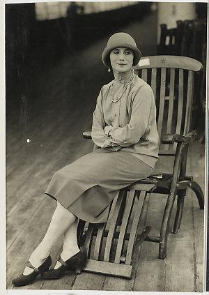 Anna Pavlova on board, Townsville, Queensland , March 1929 / unknown photographer