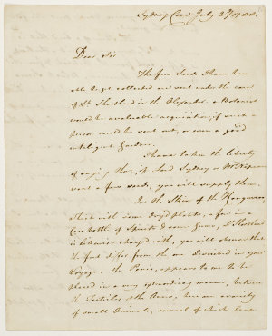 Series 37.05: Letter received by Banks from Arthur Phillip, 2 July 1788