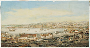 [Sydney from the western side of the Cove, ca 1803 / attributed to G.W. Evans]