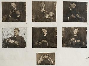 C.J. Dennis, [ca. 1910] / [comic portraits by unknown photographer]