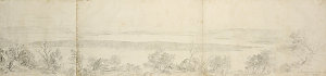 The Great Lake from the Old Mans head, 31. January 1875 / pencil sketch by Eugene von Guerard