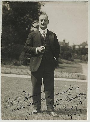 Peter Dawson, Australian baritone - portrait, 1927 / unknown photographer