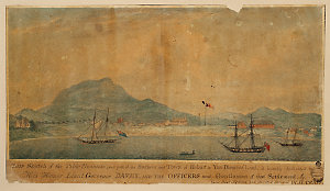 Table Mountain, and part of the Harbour and Town of Hobart in Van Diemen's Land / W.H. Craig