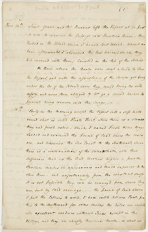 Series 39.065: 'Colonel Patersons Narrative of the Coal Harbour & Rivers',14 June-17 July, 1801