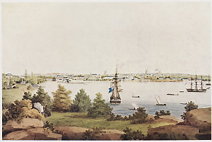 View of Sydney from the east side of the Cove, ca. 1811 / John Eyre