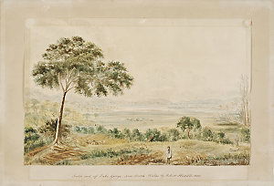 South end of Lake George, New South Wales, 1830 / Robert Hoddle