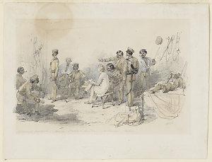 Richmond Paddock, Black Troopers Quarters Melbourne, 1851 / William Strutt