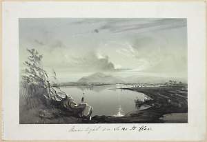 Item 03: Moonlight on Lake St. Clair, 1853 / by G.A. Gilbert