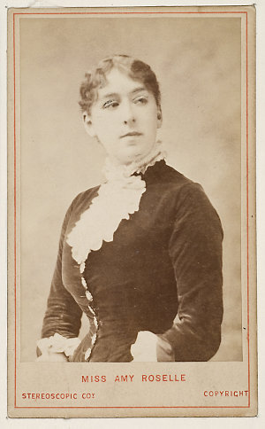 Amy Roselle, actor, ca. 1895 / London Stereoscopic & Photographic Company