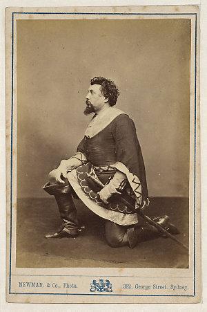 Henry Squires, American tenor, as Vasco de [i.e. da] Gama in L'Africaine, [1870-1880] / Newman & Co., Photo., 392 George Street, Sydney ; J.R. Clarke, publisher & importer of photographs, 317 George St., Sydney