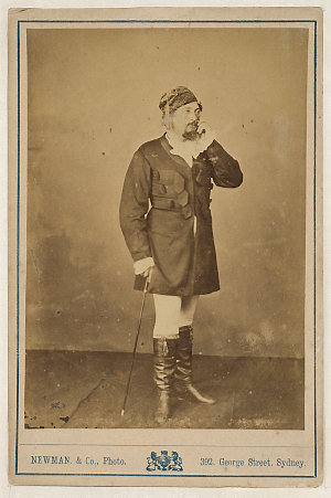 Henry Squires, American tenor, in Fra Diavolo, [1870-1880] / Newman & Co., Photo., 392 George Street, Sydney