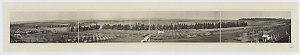 Panoramic view of Orange District from Mount Pleasant, showing Mr S. Hawkes' orchard, 192- / photographer E.B. Studios
