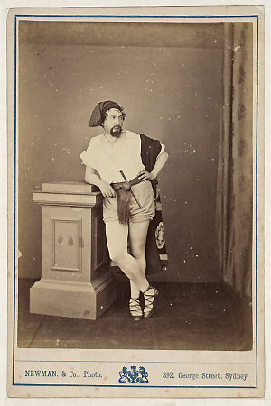 Henry Squires, American tenor, in Masaniello, [1870-1880] / Newman & Co., Photo., 392 George Street, Sydney ; J.R. Clarke, publisher & importer of photographs, 317 George St., Sydney