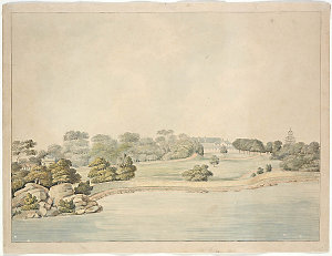 Govemt [i.e. Government] House, Sydney, 1819 / [watercolour drawing attributed to J. Lycett]