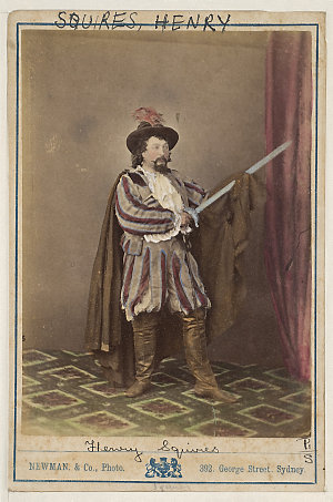 Henry Squires, American tenor, as Don Caesar in Maritana, [1870-1880] / Newman & Co., Photo., 392 George Street, Sydney