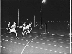 Australian Athletics Championships at night, E.S. Marks Memorial Field