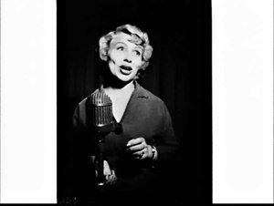 Portrait of Betty Ankers on 2UW Hour of Song, Radio Theatre