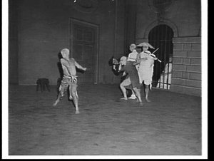 Robert Helpmann in the Royal Ballet's The rake's progress at the Empire Theatre