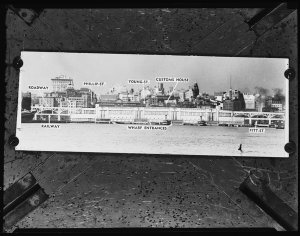 Sun Artist's impression of Circular Quay Railway, 4 April 1951 / photographs by Milton Kent